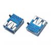 USB 3.0 AF板上90度弯脚胶芯反向有卷边母座板端插座